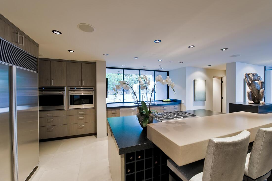 concrete kitchen countertops flooring